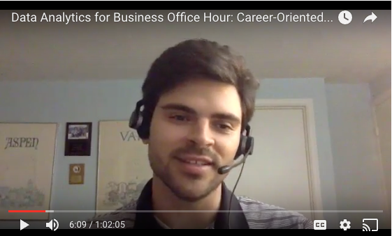 Analytics Career Office Hours
